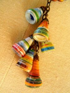 INSPIRATION:  Bell-shaped Paper Beads.