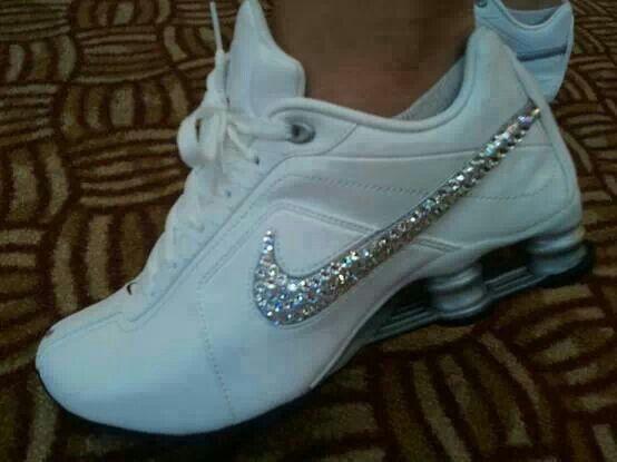 46703a31f14 ... outlet online 37e1d b505b white nike shox sequins swoosh  elegant shoes  ...