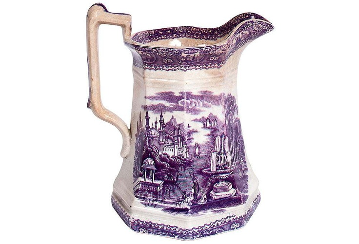 I absolutely love this!  Purple transferware.