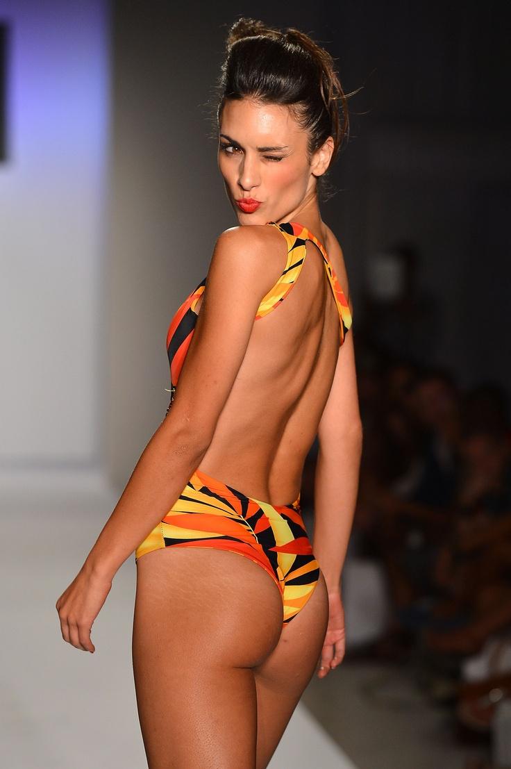 Blowing #Kisses #Bikini #sexy at the A.Z. Araujo show #MBFWSwim 2013
