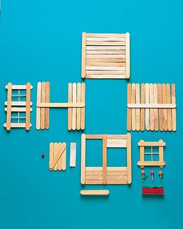 Walls - Popsicle Stick House - Step 1 - MarthaStewart.com
