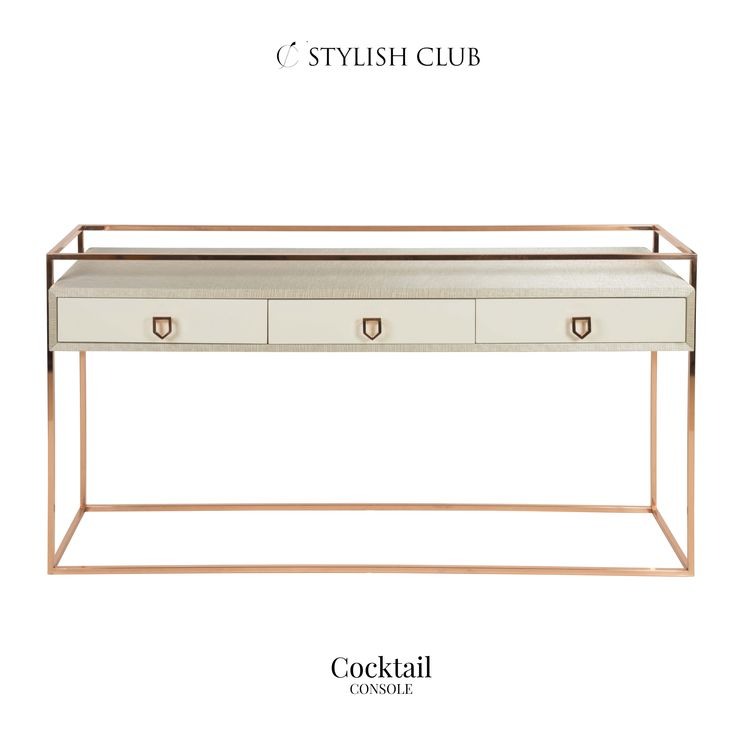 In the showroom, you can find, among other exclusive designer pieces, some luxurious console tables and we'll show you a sneak peak.