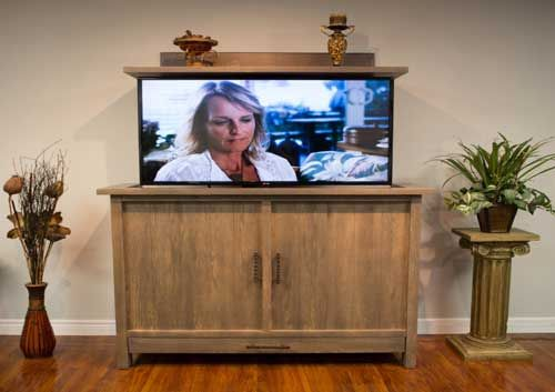 The Muskoka TV Lift Cabinet by Morphbotics