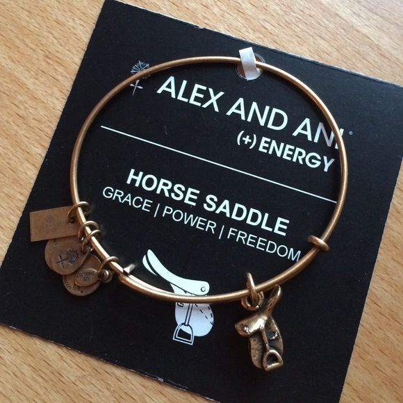 ccf9100c616365 Alex and Ani Horse Saddle Bracelet Brand new!! Charm is the horse saddle  part of the Kentucky Derby Collection. Rustic Gold. Alex & Ani Jewe…