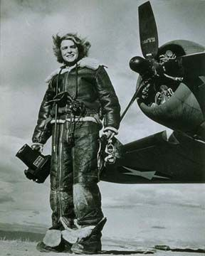 Margaret Bourke-White was hired as the first female photojournalist for Life Magazine in 1935. She was the first female war correspondent and the first woman allowed to work in combat zones during WWII, documenting the atrocities of the death camps.