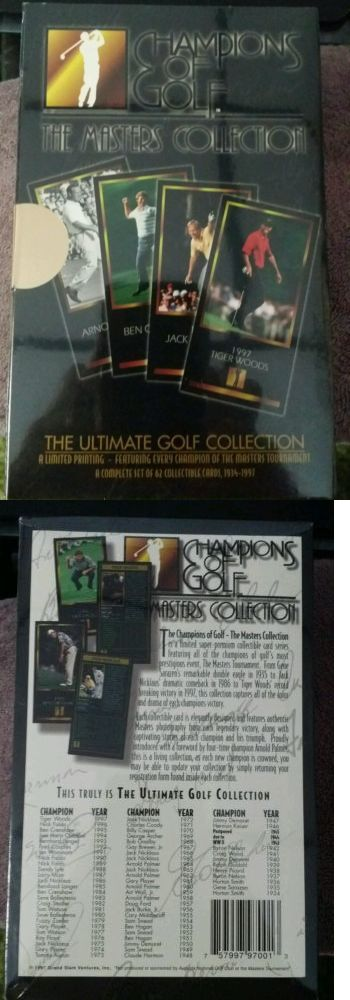 Golf Cards 4240: 1997 Grand Slam Ventures Champions Of Golf Tiger Woods Rookie Factory Set Box! -> BUY IT NOW ONLY: $74.99 on eBay!