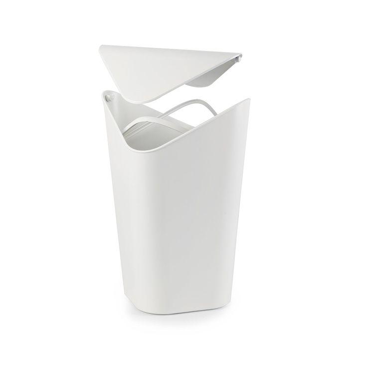 Umbra 086900-660 Corner Can Abfallbehälter, weiß: Amazon.de: Küche & Haushalt