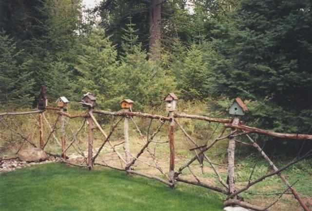 Rustic Garden Projects | Privacy Fence Project (Pic) - Garden Junk Forum - GardenWeb