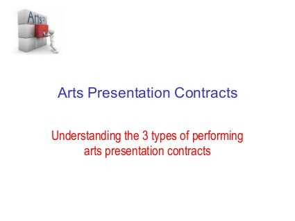 Arts presentation contracts by Linda Rogers, via Slideshare