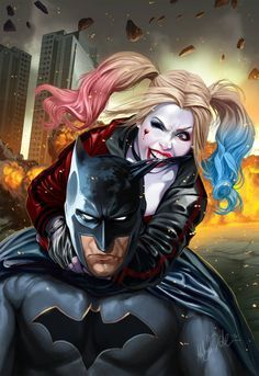 Batman and Harley Quinn by Ashley Witter *