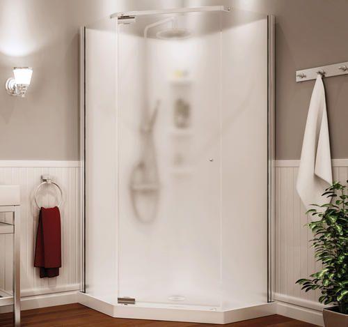 "maax® begonia™ 36"" neoangle shower kit vapor glass at"