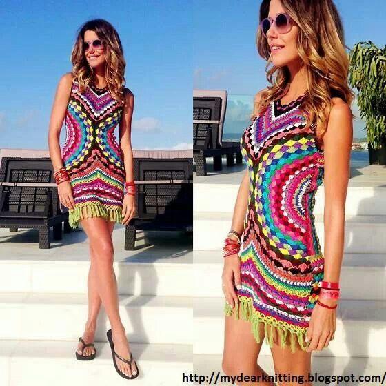 Vestido de playa crochet