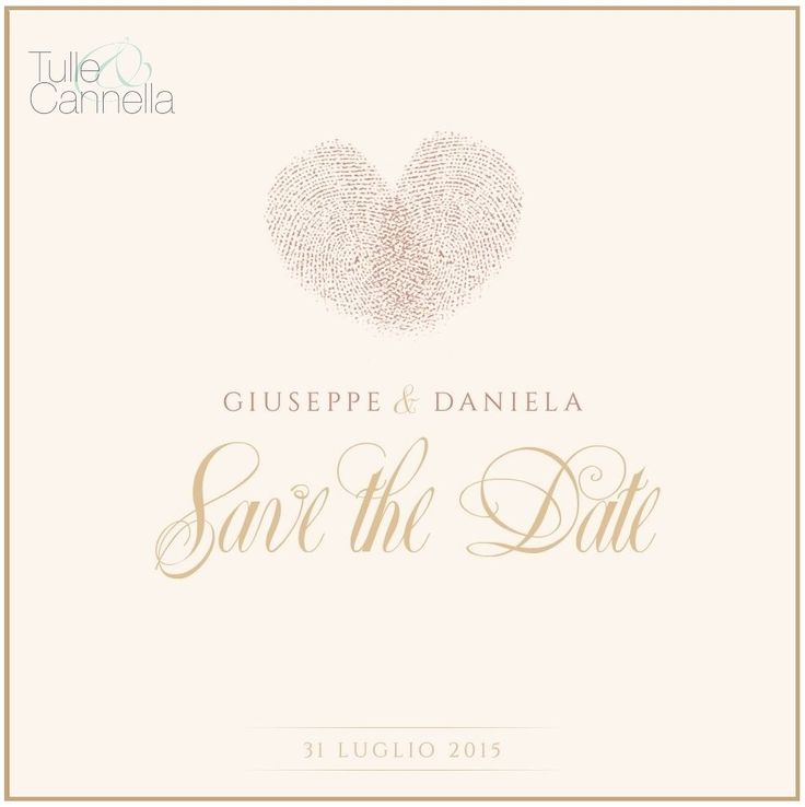 Today on Blog we talk about on #SaveTheDate! ✉ Save The Date: un invito molto speciale | Wedding Planner Napoli | Tulle e Cannella