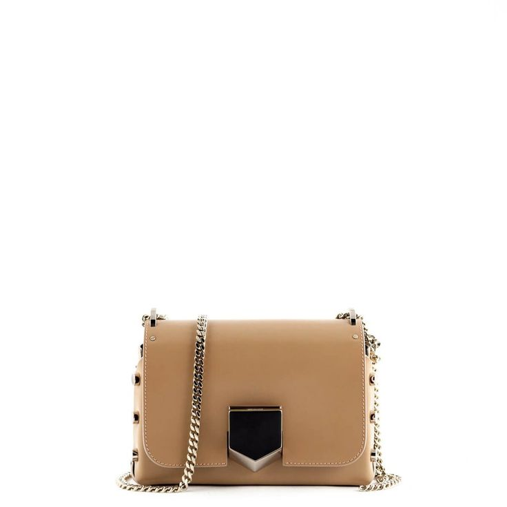 Jimmy Choo Beige Lockett Petite Shoulder Bag