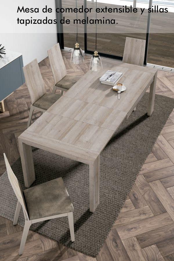 Mesa de comedor extensible para espacios no muy amplios y ...