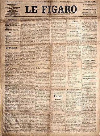 Il Manifesto di Marinetti pubblicato su Le Figaro il 20 Febbraio 1909