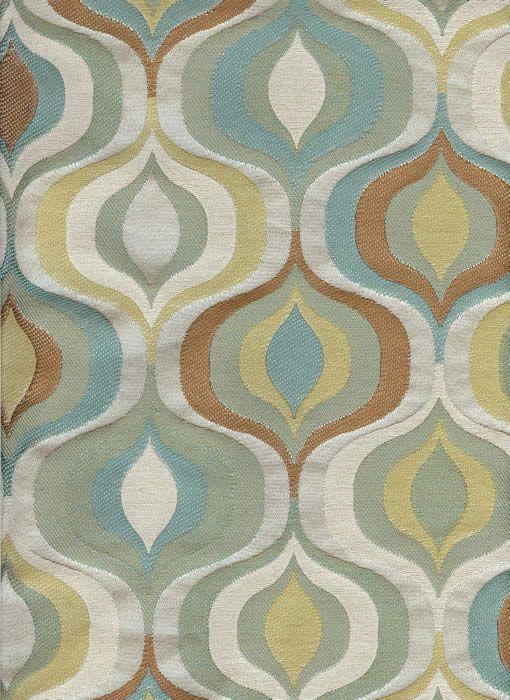 Mid-Century Modern Drapery Fabric - Boom
