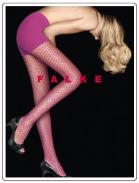 Pink dots tights by Falke
