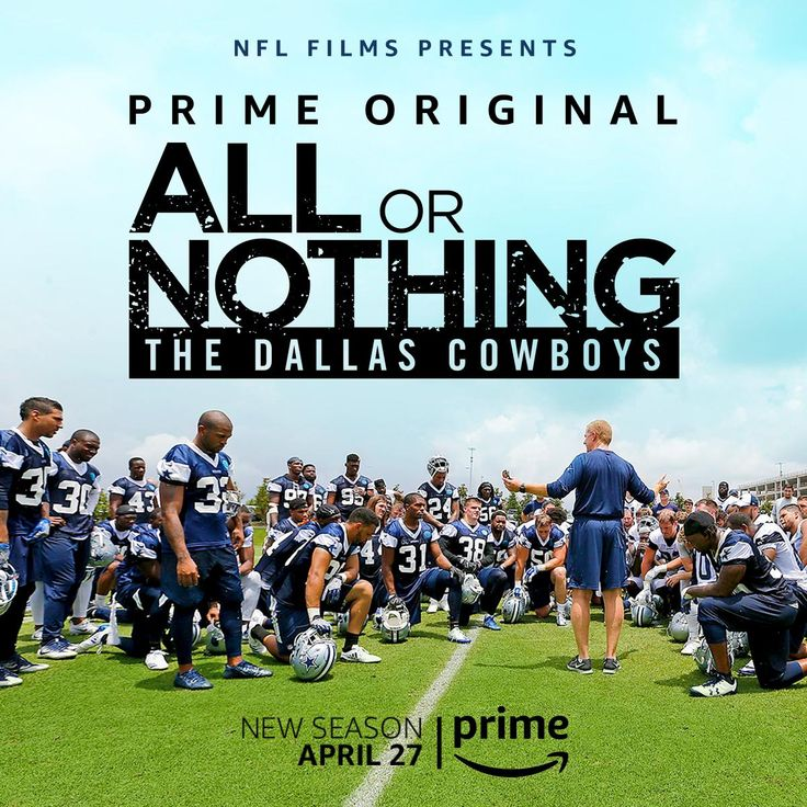 All or Nothing - Dallas Cowboys starts April 27th   https://twitter.com/NFL/status/969211142810763270  Submitted March 01 2018 at 09:03AM by CravingToast via reddit http://ift.tt/2F27Zdg