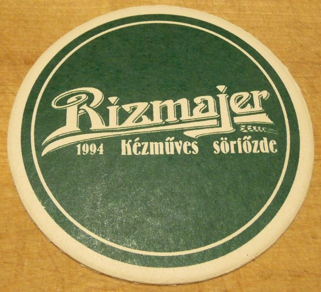 Söralátétjeim: 33. Rizmajer - Magyar kézműves #sör #fozdefeszt #beermat