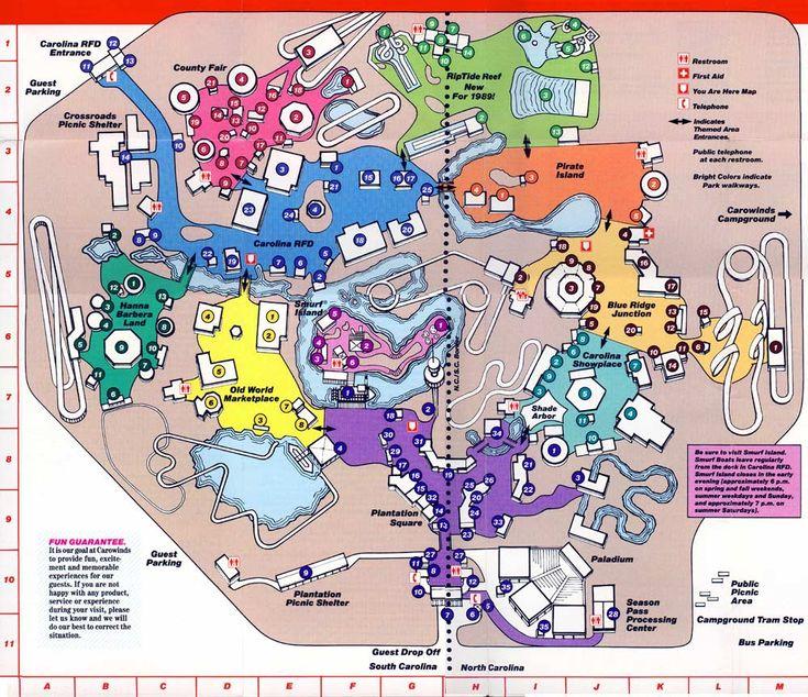 78 Best Images About Theme Park Maps... On Pinterest