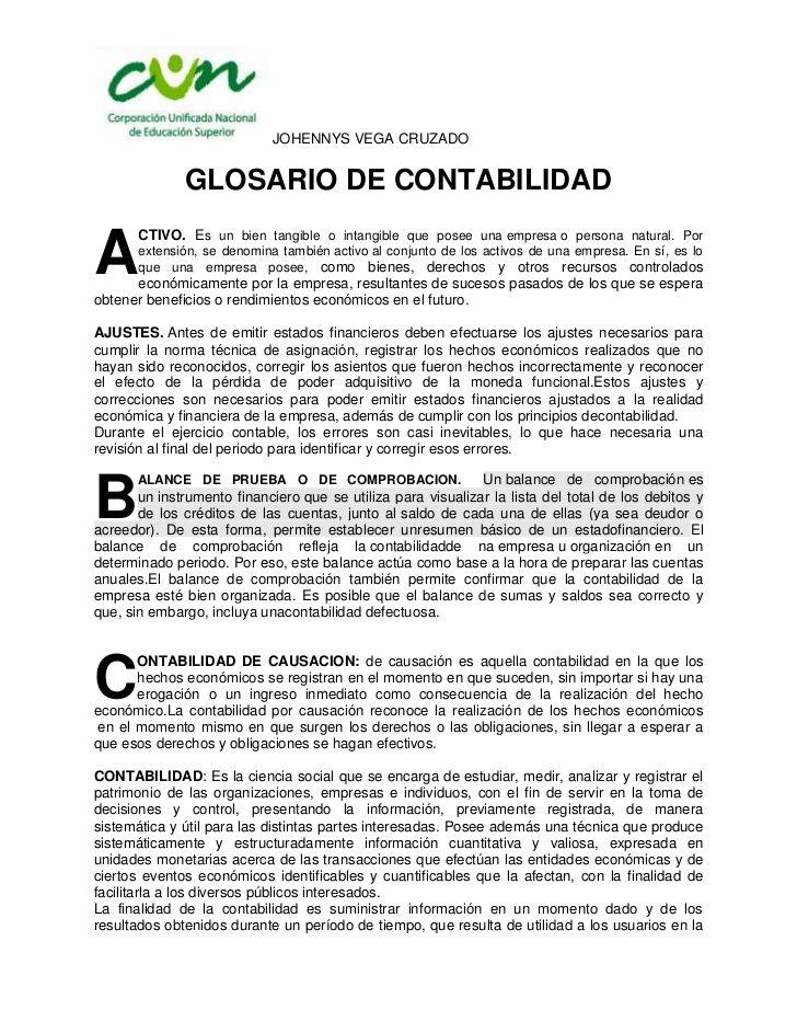 De la A a la Z /// Terminología Contable.
