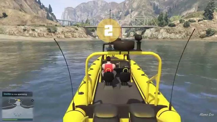 #GTA 5 #Online Without A Paddle #Boat #Race on #PS4