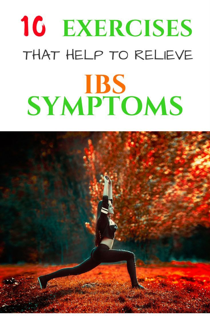IBS exercise. 10 Exercises that help to relieve IBS symptoms. IBS relief.