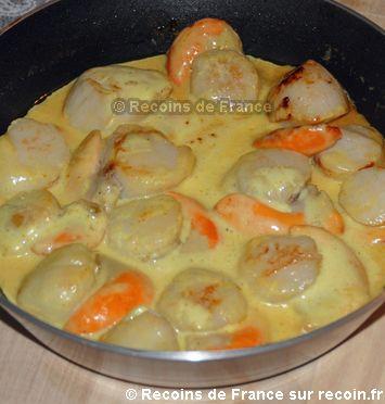 Noix de Saint Jacques au curry