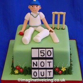Yorkshire Cricket Player Birthday Cake