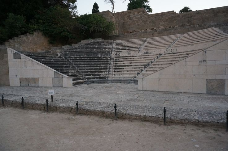 #Theatre at #Temple of #Apollo #Pythios #Rhodes #Island #Greece