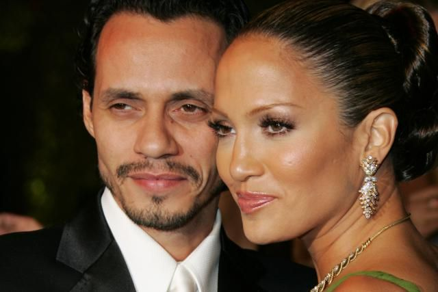 Rushing Into Marriage Doesn't Work for Jennifer Lopez: Marc Anthony and Jennifer Lopez during 2006 Vanity Fair Oscar Party Hosted by Graydon Carter - Arrivals at Morton's in West Hollywood, California, United States.