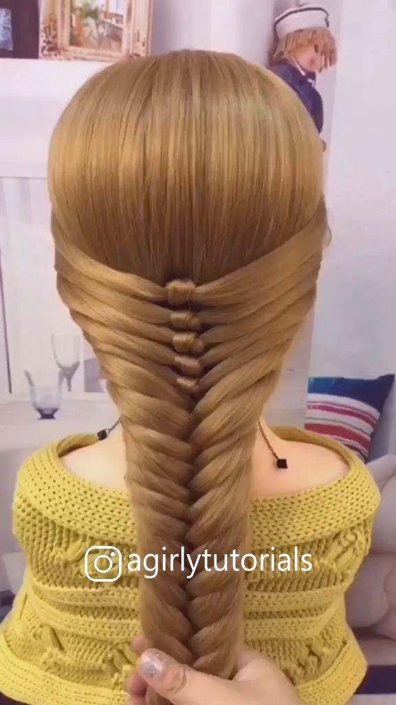 Tik Tok Hairstyle Videos Tutorial In 2020 Cute Hairstyles Hair Styles Hairdo For Long Hair