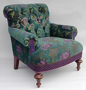 Middlebury Chair: Bohemian: Mary Lynn O'Shea: Upholstered Chair   Artful Home