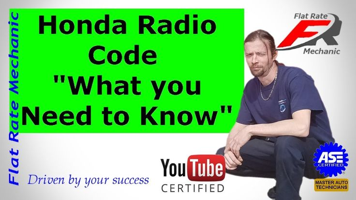 "Honda Radio Code ""What you Need to Know"""