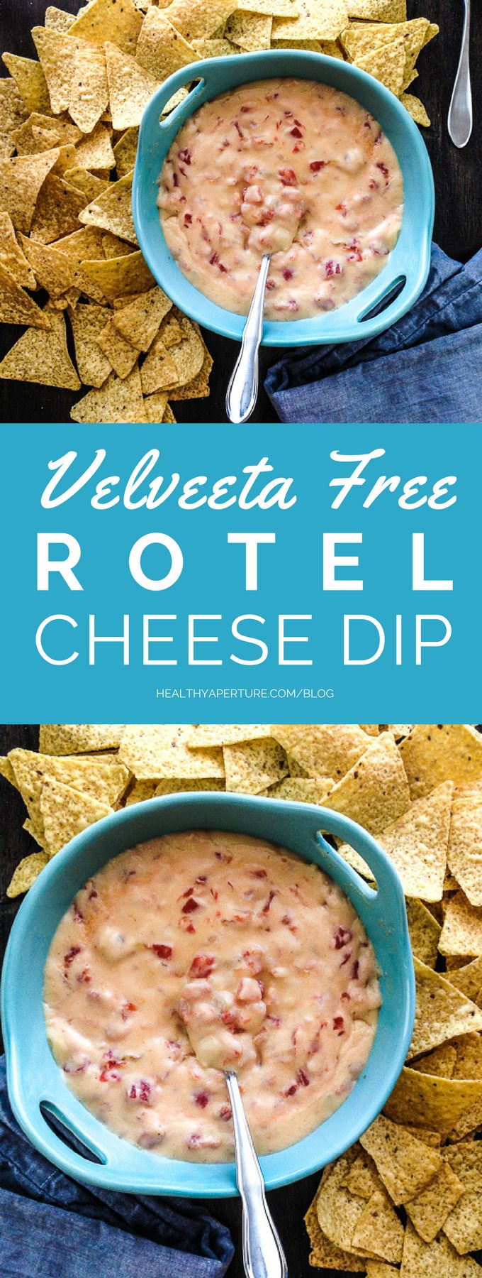 Cheddar, chili powder, milk and Rotel tomatoes are all you need for this Velveeta Free Rotel Cheese Dip!