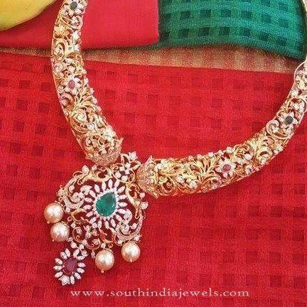 Diamond Necklace New Designs, Diamond Jewellery New Designs, Indian Diamond Jewellery New Designs.