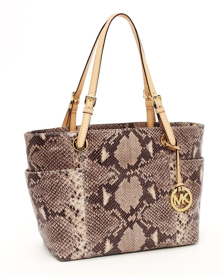 Michael Kors Jet Set Python Tote discovered on Fantasy Shopper. Find this  Pin and more on MK Handbags ...