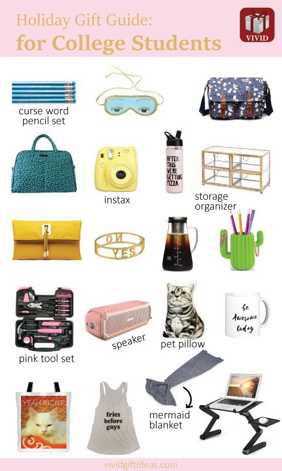 22 Unique Holiday Gifts for College Students | Gifts for Girls ...