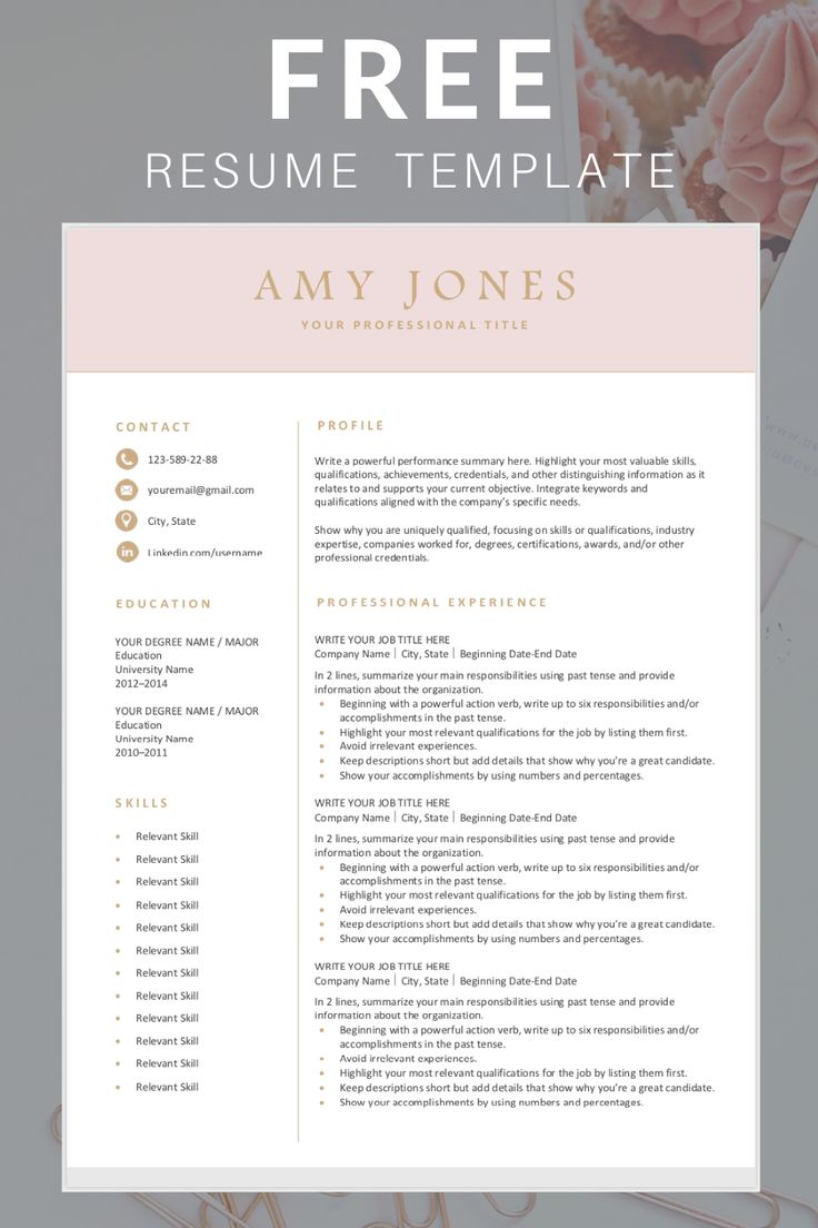 Download this modern, professional resume template. You