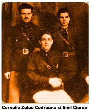 Corneliu Codreanu and Emil Cioran (on the left)