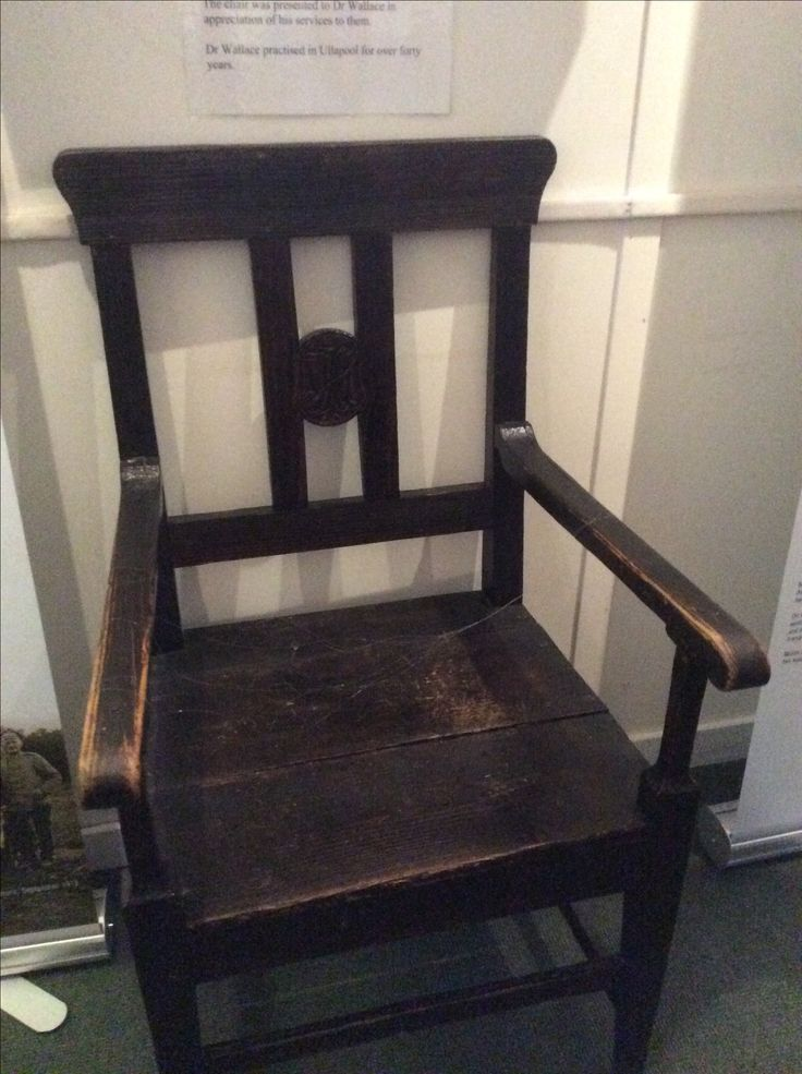 Dr Wallace's chair, made for him by German prisoners of war from the camp at Foich near Braemore 1918-19, used in our 2016 exhibition Lochbroom and the Great War
