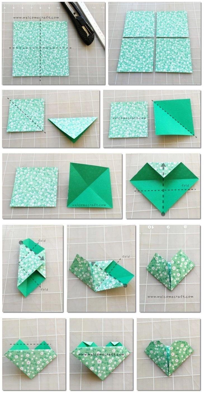 Origami Bookmark Instruction