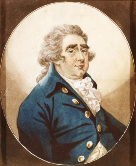 Charles James Fox (1749-1806) by Robert Dighton. Fox was one of the greatest orators of his time, and was Pitt's longtime political rival.