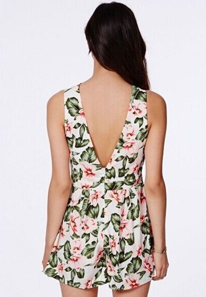 New Floral Playsuit available now at Ruby Liu! ♡ http://rubyliuboutique.com/collections/jumpsuits?page=2