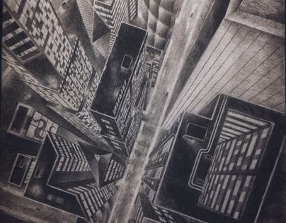 "Check out this @Behance project: ""Delta City - one-point perspective"" https://www.behance.net/gallery/15741461/Delta-City-one-point-perspective"