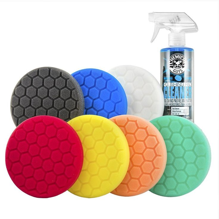 Amazon.com: Chemical Guys BUF_HEX_KITS_8P Hex-Logic Buffing Pad Kit (5.5 Inch) (8 Items): Automotive