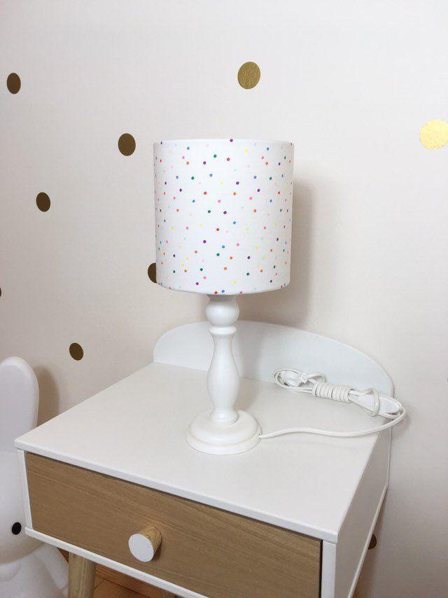 Tischlampe Kinderzimmer Punkte Nachttischlampe Kinder Lampe Konfetti Kinderlampe Kinderzimmerlampe Taufgeschenk Geschenke Zur Geburt Lamp Novelty Lamp Table Lamp