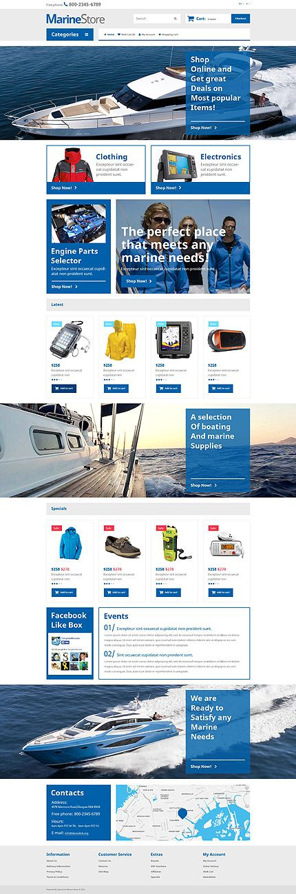 Yacht & Marine Online Store #OpenCart #webtemplate #themes #business #responsive #template