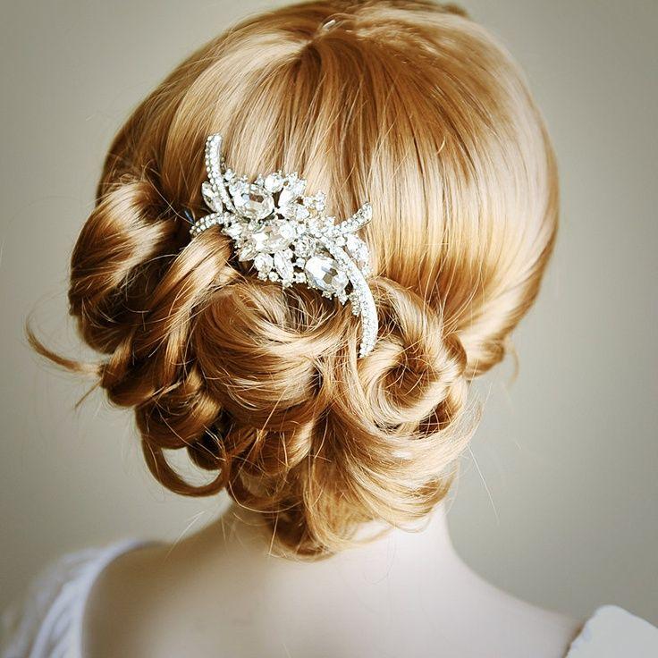 Bridal peigne de cheveux, peigne de cheveux mariage Art Deco cristal cabelo noiva 1157